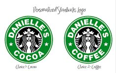 Personalized Starbucks Logo Decal by KreeativeKreeations on Etsy, $4.00