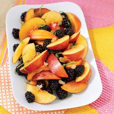 Nectarine and Berry Salad