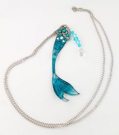 Mermaid Tail Necklace  Mermaid Necklace  by OnGossamerWings, $30.00