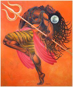 """Lord Shiva-Anand Tandav"" By Rahul Vyas Indian Gods, Indian Art, Shiva Tandav, Rudra Shiva, Shiva Linga, Shiva Statue, Shiva Angry, Lord Shiva Hd Wallpaper, Lion Wallpaper"