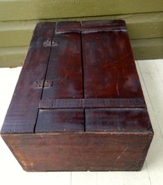 Vintage Antique Wooden Box with lid by LititzCarriageHouse on Etsy, $75.00