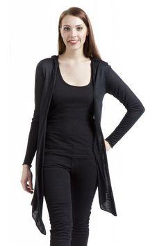 €22.99 Naisten neuletakki (S). Käy myös muu vastaava pitkä musta neuletakki, mielellään hupullinen, eikä haittaa vaikka taskutkin olisi. Ei saa olla villaa yhtään mukana!