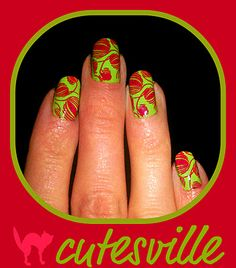 yarn nail art