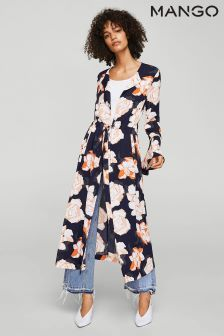 6206f22380 Mango Navy Floral Shirt Dress
