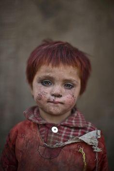 portraits d enfants afghan refugies au pakistan
