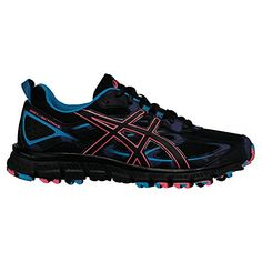 ASICS Womens GelScram 3 Trail Runner AnthraciteBlackColumbia Sea 75 M US -- Click image for more details.