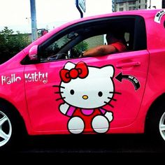 Hello Kitty Car, Car Accessories, Nifty, Geo, Sparkles, Automobile, Addiction, Decals, Snoopy