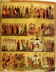 Saints and Feasts of December - Russian icon, 16th century