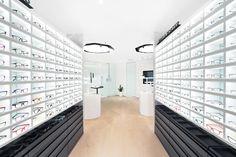 Shop Interior Design, Retail Design, Glass Showcase, White Shelves, Shop Front Design, Shop Plans, Barndominium, Cabinet Furniture, White Walls