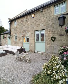 Early morning...converted barn...country living...chartwell green bespoke windows and doors..