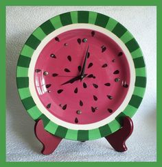 DON'T WANT AS A CLOCK; IS THIS TOO HARD?  DIANNE ??  I DO WATERMELONS FOR SUMMER UNTIL 4TH OF JULY. watermelon