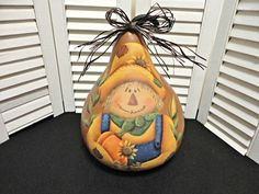 GB Fall pumpkin gourd, hand painted