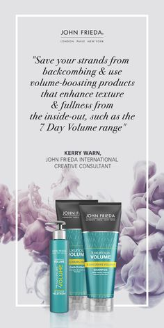 Get ready for up to 7 days of full-volume festival styles with the John Frieda Luxurious Volume 7 Day Volume Collection  #FestivalHair #FestivalStyle #FestivalBeauty