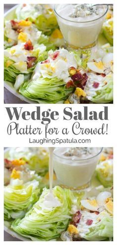 Salad Platter for a Crowd Incredibly easy and so fun to serve at your next party!Incredibly easy and so fun to serve at your next party! Cobb, Salads For A Crowd, Meals For A Crowd, Appetizers For A Crowd, Individual Appetizers, Kid Friendly Appetizers, Cooking For A Crowd, Crowd Food, Cooking Recipes