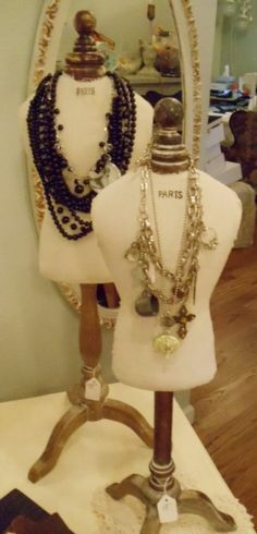 """25"""" Dress Form Mannequin-dress, form, jewelry, display, French,  mannequin, Paris, Mannequin, French jewelry, display, table, top, necklace"""