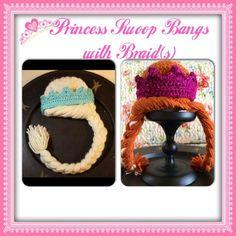 # Braids for kids etsy Princess Swoop Bangs with Braid(s)-- Crochet Frozen Elsa Anna Repunzel Leia princess hair pattern for hat or beanie **PATTERN ONLY** Crochet Braid Pattern, Crochet Shawl Diagram, Crochet Braids, Crochet Patterns, Crochet Hats, Crochet Toddler, Baby Afghan Crochet, Crochet For Kids, Crochet Summer Hats