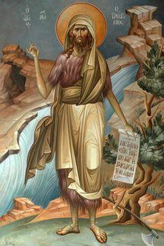 Orthodox Catholic, Catholic Art, Religious Art, Byzantine Icons, Byzantine Art, Faith Of Our Fathers, Roman Church, Jean Baptiste, Saint Jean