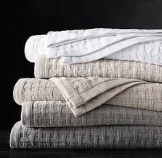 Textural Basket Weave Cotton Blanket