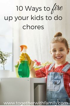 Some fun ideas to get children to do their chores at home!