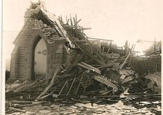 A Tornado hit Highton on July 21st, 1926. Among the damage done was the destruction of the Methodist Church at the corner of Scenic Rd and Barrabool Rd. The church has since been re-built. Highton is a suburb of Geelong, Victoria.