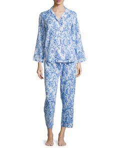 Oscar de la Renta printed lawn pajama set