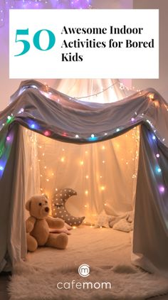 50 awesome indoor activities for bored kids no parents required cafemom alphabet find learning activity Rainy Day Activities For Kids, Indoor Activities For Toddlers, Winter Crafts For Kids, Home Activities, Games For Kids, Kids Crafts, Camping Activities, Summer Activities, Forts For Kids