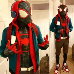 Miles is complete and I have a con next weekend, happy days. Very happy with how it all looks together 🤟🏽🌻. Spiderman Homecoming Costume, Spiderman Halloween Costume, Superhero Costumes For Boys, Halloween Costumes Kids Boys, Marvel Costumes, Halloween Men, Boy Costumes, Super Hero Costumes, Halloween Cosplay