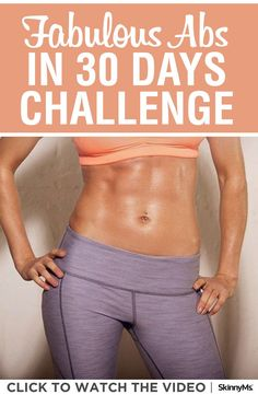 Your fabulous abs are waiting to be strengthened, toned, and uncovered with the Skinny Ms. Fabulous Abs in 30 Days Challenge. #absworkout #abworkout #absworkoutathome #workoutforabs #lowerabsworkout #upperabsworkout #totalabsworkout #obliquesworkout #sideabs #30daychallenge #fitnesschallenge #getfit #motivation #workoutroutine