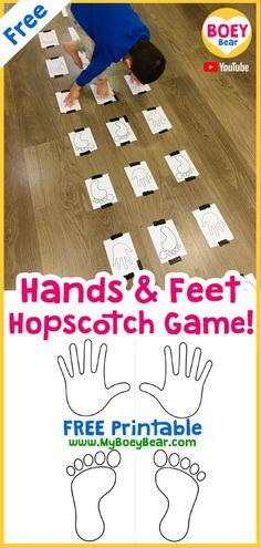 Hands & Feet Hopscotch Game!