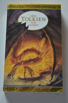 The Hobbit or There and Back Again by J. Tolkien (Paperback, for sale online Jrr Tolkien, Gandalf, Good Books, My Books, Dragons, Orange Book, Adventures Of Huckleberry Finn, Books Everyone Should Read, The Book Thief