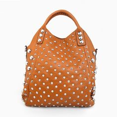 Tan Studded Bag