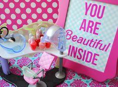 spa party ideas for girls birthday | Polka Dot Birthday Supplies, Decor, Clothing: Barbie Spa Party Ideas