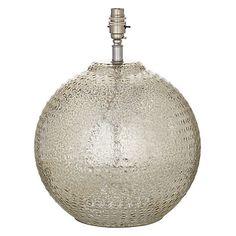Buy John Lewis Sarita Textured Glass Ball Lamp Base Online at johnlewis.com