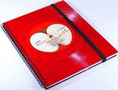 DIN A5 - Notizbuch aus Schallplatte  - ein Designerstück von Aurum bei DaWanda