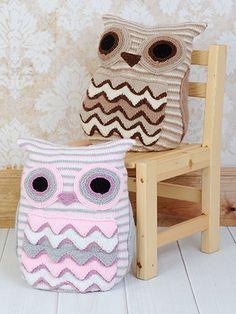Knitting - Owl Cushion - #REK0582