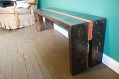 """I'm going to need to steal someone's tools and learn a few skills but I really want to try making this apparently """"easy"""" bench. It's made from 2 planks of 2x6. Brilliant."""