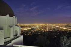 The Griffith Observatory, Hands down, the best view of LA - and the closest you can get to the Hollywood Sign.