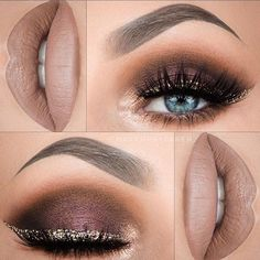 """LOVE THIS """"Cranberry Champagne"""" look for NYE Makeup Artist: @makeupbytaren Hashtags: #thelookbookx #makeupbytaren #nye #nyemakeup #holidaymakeup #holidaymakeup2016 #holidaymakeup2015 #motd #makeup"""