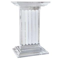 gorgeous lucite pedestal table base - Pedestal Table Base