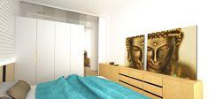 Návrh spálne - Interiér bytu pri Štrkoveckom jazere, Bratislava - Interiérový dizajn / Bedroom interior by Archilab
