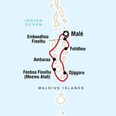 Map of Maldives Dhoni Cruise