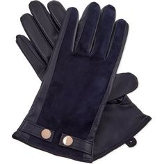 TED BAKER Leather and suede smart gloves (6.085 RUB) ❤ liked on Polyvore featuring accessories, gloves, black, black gloves, suede gloves, black leather gloves, black suede gloves and lined leather gloves