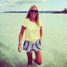 """""""Monday and we just got this photo from TV host @linda_lindorff shooting as we speak in Cambodia. Our Colibri silk shorts will be in stores from January! Looking forward! ☀️ #bymalina #ss15 #springnews #summer"""" Photo taken by @bymalinas on Instagram, pinned via the InstaPin iOS App! http://www.instapinapp.com (12/01/2014)"""
