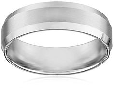 Men's 10k White Gold Comfort-Fit Wedding Band with Satin Center and Beveled Edges (6 mm), Size 10 Amazon Curated Collection http://www.amazon.com/dp/B00387F5CA/ref=cm_sw_r_pi_dp_WG4Cub037TB5H