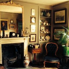 English antique owner's home