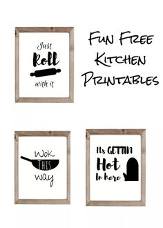 Easy DIY Kitchen Signs – Kitchen Wall Decor Ideas – DOMESTIC HEIGHTS free kitchen sayings, kitchen puns art, free black and white kitchen printables Farm Kitchen Ideas, Kitchen Sign Diy, Wooden Kitchen Signs, Kitchen Quotes, Kitchen Wall Art, Kitchen Wall Sayings, Country Kitchen, Kitchen Canvas, Kitchen Labels