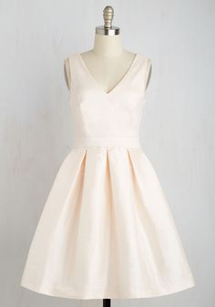 My Gift to You Dress in Blush. Your presence is present enough when you flaunt this pastel pink fit and flare! #blush #bridesmaid #modcloth