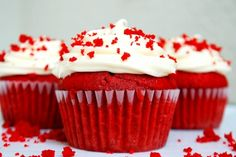 red velvet cupcake with cream cheese frosting