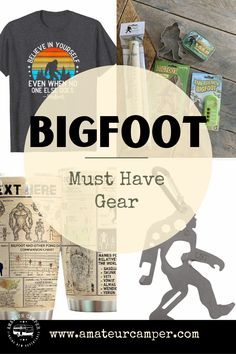Must Have Gear for the Bigfoot Enthusiast Gifts For Campers, Camping Gifts, Camping Outfits, Outdoor Fun, Must Haves, Gifts For Women, Gears, Believe, Bigfoot Sasquatch