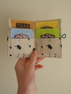 Tea Wallet  cheaper to make out of paper for favors